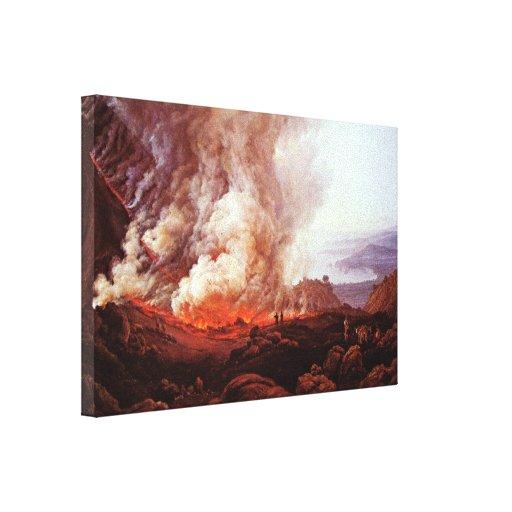 Dahl Johan Claussen - Eruption of Vesuvius Canvas Prints