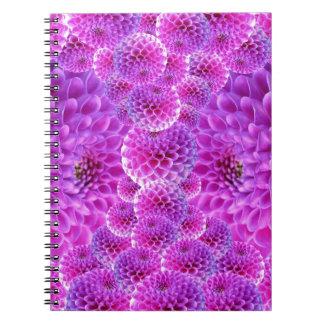 dahlia-170835 DIGITAL REALISM  GLOWING DAHLIA FLOW Notebooks