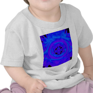 Dahlia Abstract, Blue, Purple T Shirts