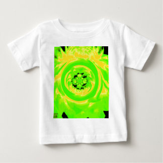 Dahlia Abstract, Green, Yellow Baby T-Shirt