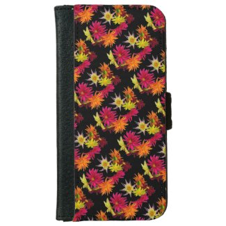 Dahlia Abstract iPhone 6 Wallet Case