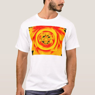 Dahlia Abstract, Yellow, Orange, Red T-Shirt
