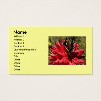 Dahlia And Monarch Butterfly Business Cards