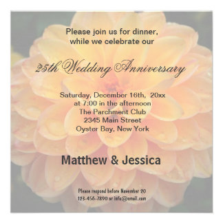 Dahlia Anniversary Custom Invites