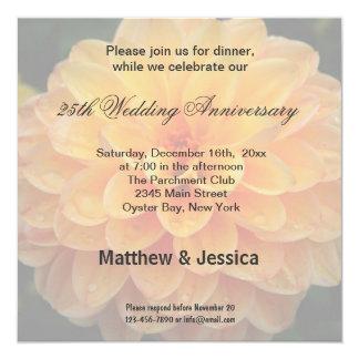 Dahlia Anniversary Invitation