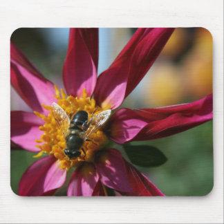 Dahlia & Bee Mouse Pad