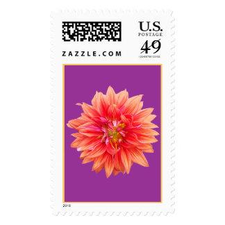 Dahlia Bloom Floral Postage