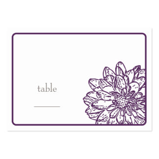 Dahlia Blossom Flat Place Card Large Business Cards (Pack Of 100)