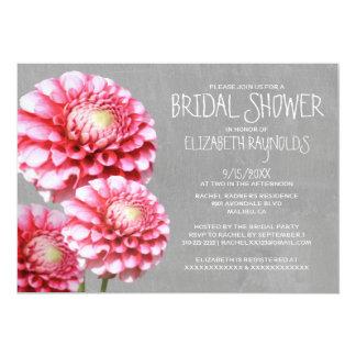 Dahlia Bridal Shower Invitations