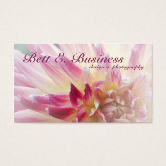 Dahlia Floral Abstract Business Card, white accent Business Card