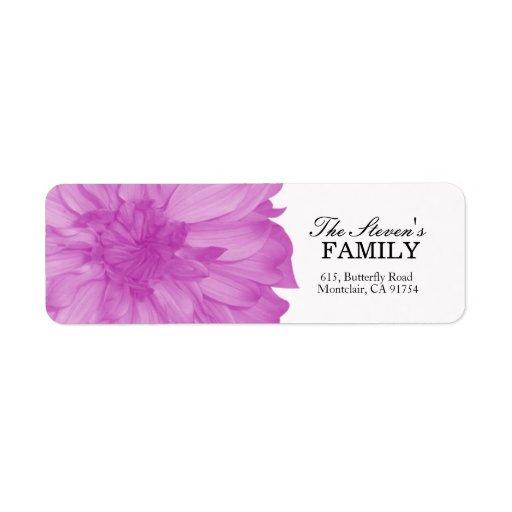 Dahlia -Floral Labels