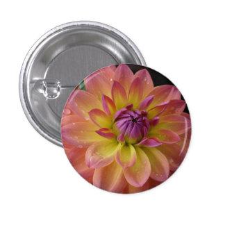 Dahlia Flower Bloom 1 Inch Round Button