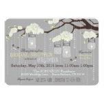Dahlia Flower Branch Modern Bridal Shower Card