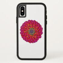 Dahlia Flower Endless Eye Abstract iPhone X Case