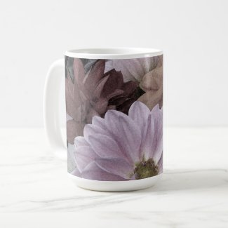 Dahlia Flower Garden Abstract Floral Mug