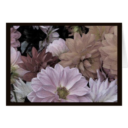 Dahlia Flower Garden Floral Valentines Day Card