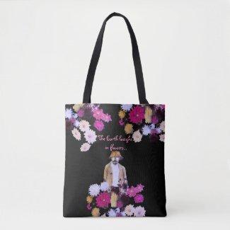 Dahlia Flower Gardener Floral Tote Bag