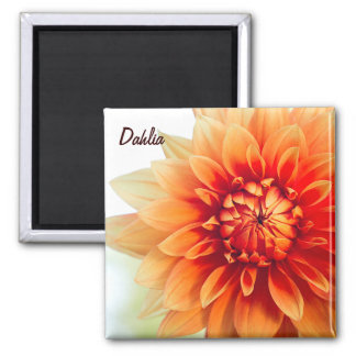 Dahlia Flower Magnet - Custom text