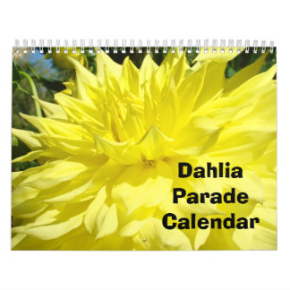 Dahlia Flower Parade Calendar Floral Photography