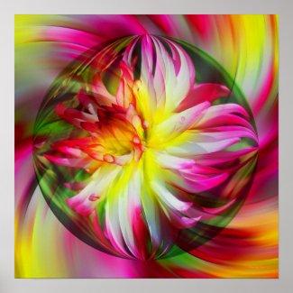 Dahlia Flower Soul Energies Floral Print