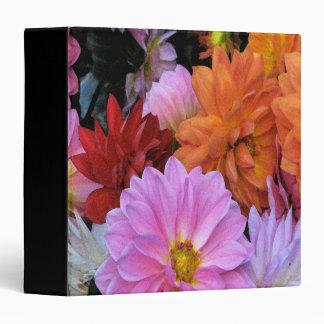 Dahlia Flowers 3 Ring Binder