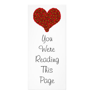 Dahlia Flowers Heart Bookmark Template Rack Card