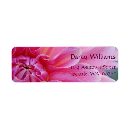 Dahlia Flowers Label