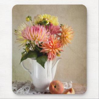 Dahlia Flowers Mouse Pad