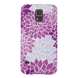 Dahlia Flowers, Petals, Blossoms - Blue Purple Galaxy S5 Cases