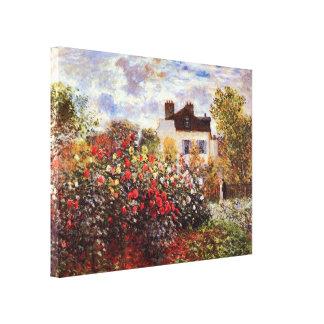 Dahlia Garden in Argenteuil Claude Monet Fine Art Canvas Print