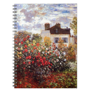 Dahlia Garden in Argenteuil Claude Monet Fine Art Notebook