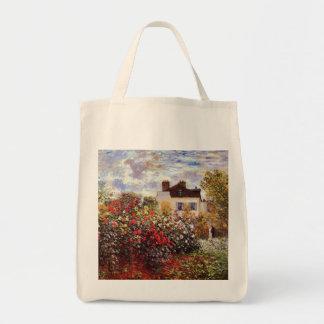 Dahlia Garden in Argenteuil Claude Monet Fine Art Tote Bag