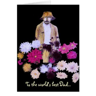 Dahlia Gardener Fathers Day Card