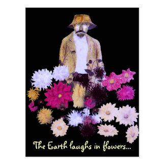 Dahlia Gardener Postcard