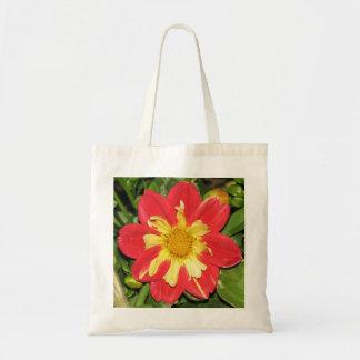 Dahlia Goldalia Scarlet Tote Bags