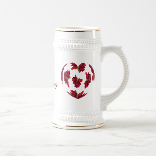 Dahlia Heart Mug
