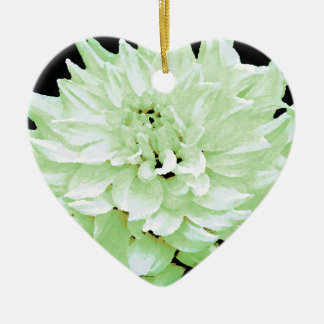 Dahlia - Honeymoon Double-Sided Heart Ceramic Christmas Ornament