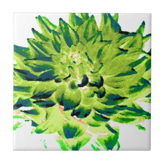 Dahlia - Honeymoon  - Earth Tone - Green Ceramic Tile