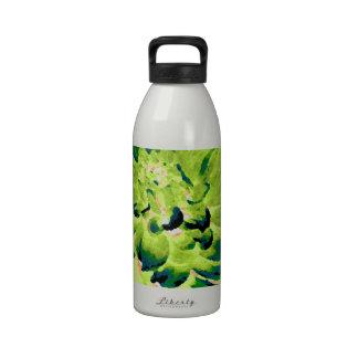 Dahlia - Honeymoon  - Earth Tone - Green Drinking Bottle