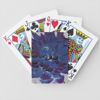 Dahlia - Honeymoon  - midnight blue - oil painting Bicycle Playing Cards