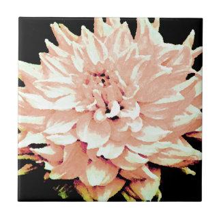 Dahlia - Honeymoon  - pale blush peach Ceramic Tiles