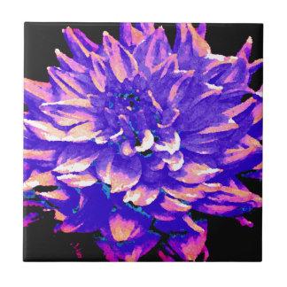 Dahlia - Honeymoon  - Purple Ceramic Tile