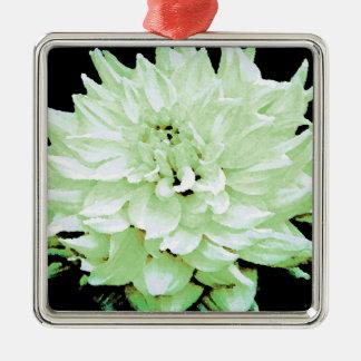 Dahlia - Honeymoon Square Metal Christmas Ornament