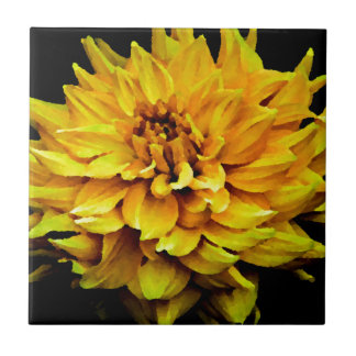 Dahlia - Honeymoon  Yellow Tile