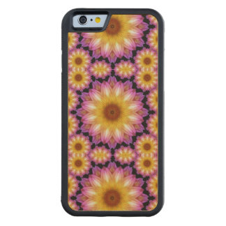 Dahlia madness carved® maple iPhone 6 bumper case