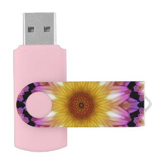 Dahlia madness swivel USB 2.0 flash drive