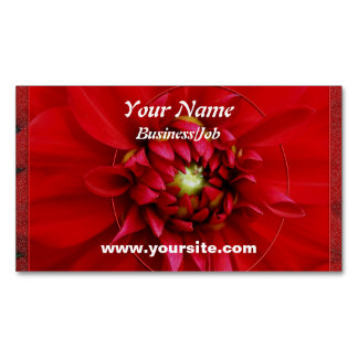 Dahlia Magnetic Business Card