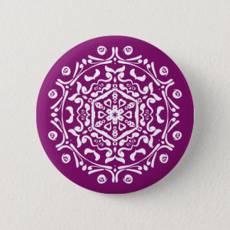 Dahlia Mandala Button
