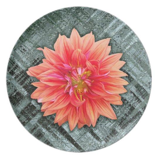 Dahlia Melamine Plate