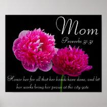 Dahlia Mother's Day bible verse Proverbs 31 Poster